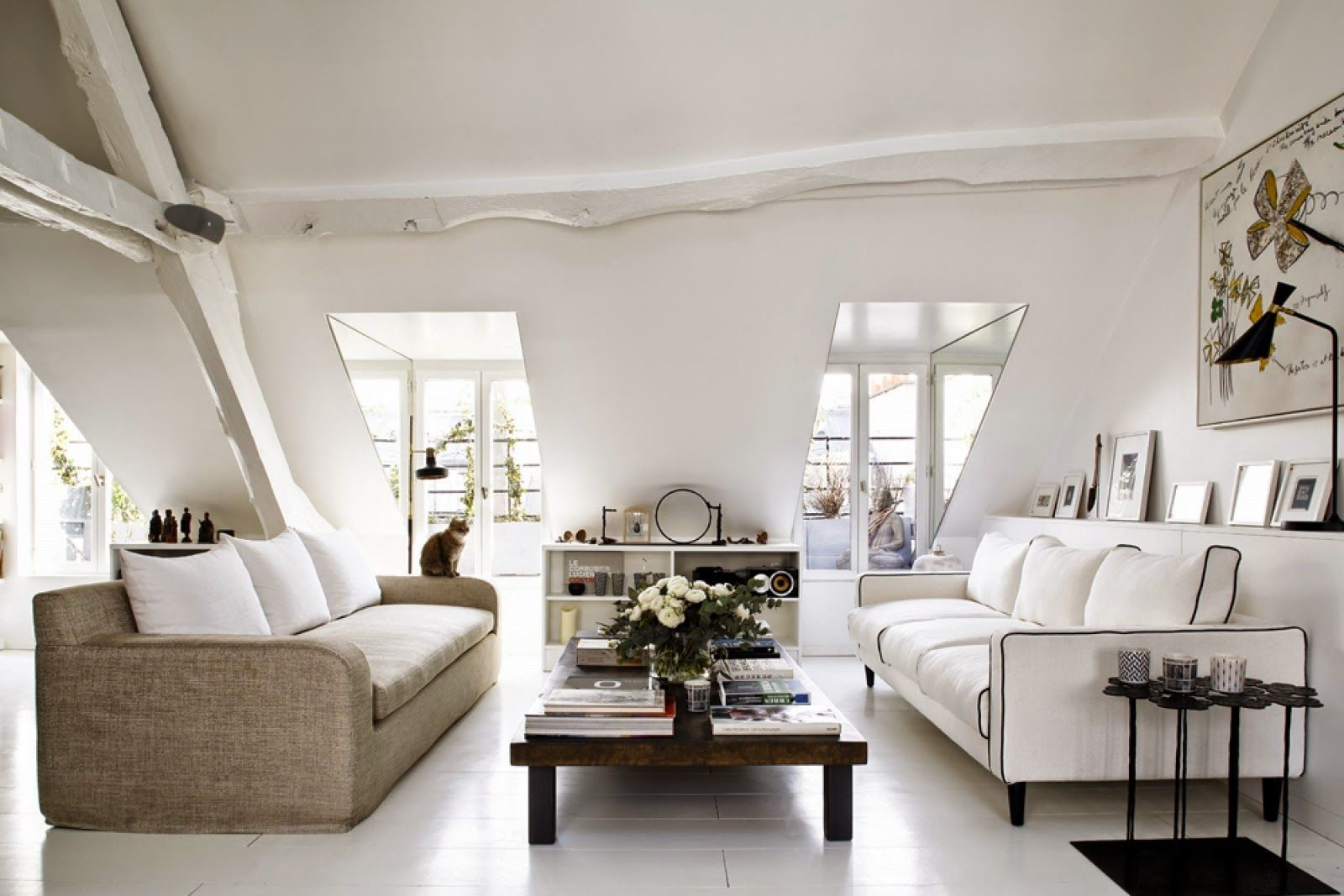 WELL STYLED ATTIC APARTMENT | Attic, Apartments and Living rooms