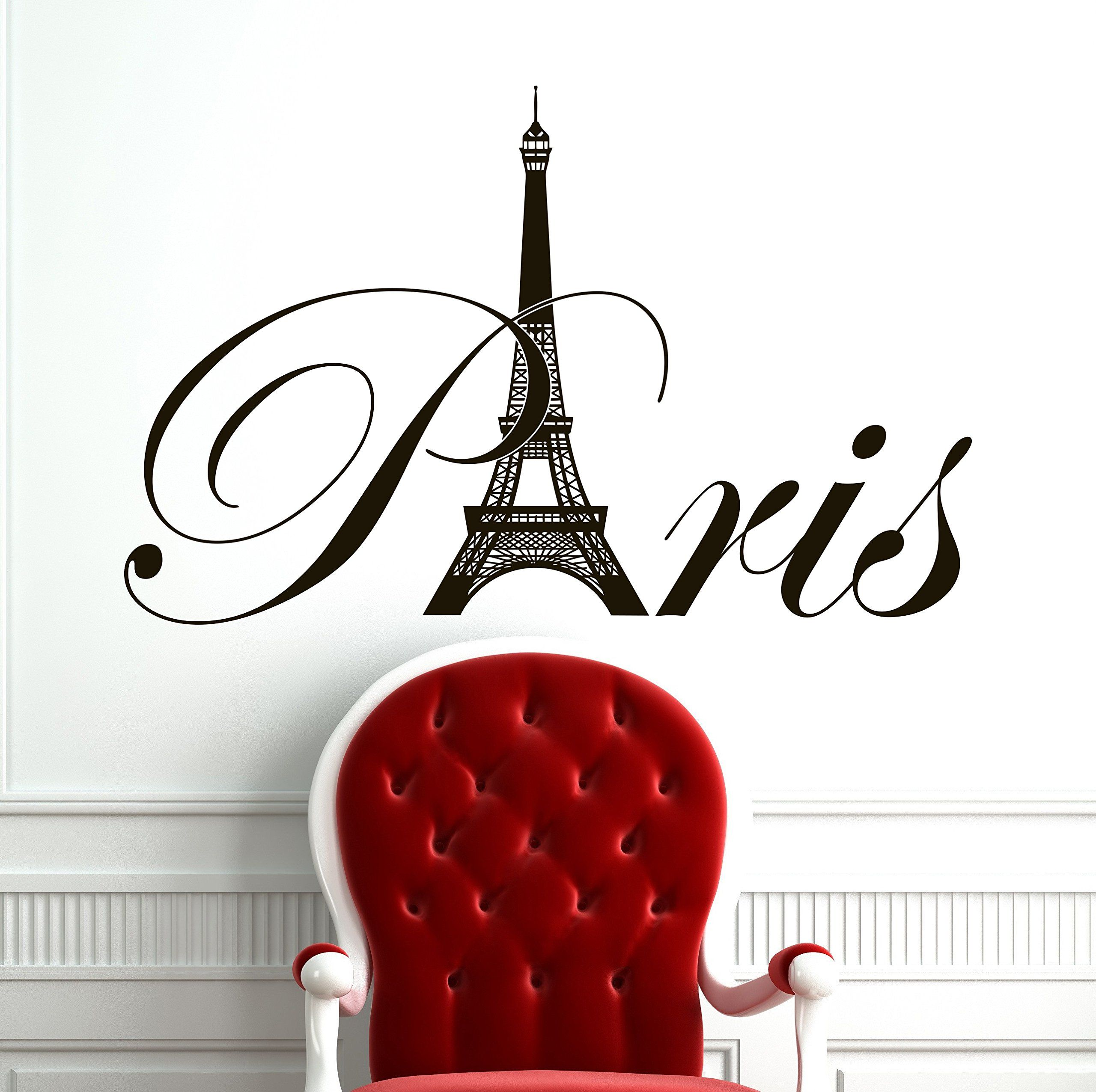 Paris eiffel tower wall decal vinyl lettering wall decals vinyl paris eiffel tower wall decal vinyl lettering wall decals vinyl stickers paris skyline silhouette france living amipublicfo Images