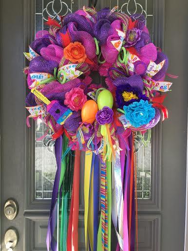 Custom orders for Fiesta Wreaths. Prices range from $55-75