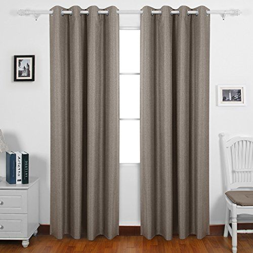 Deconovo Thick Textured Thermal Insulated Blackout Curtain Heavy
