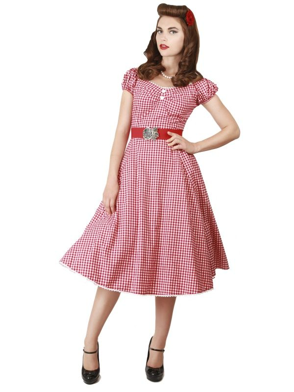 Collectif Dolores Gingham Swingdress