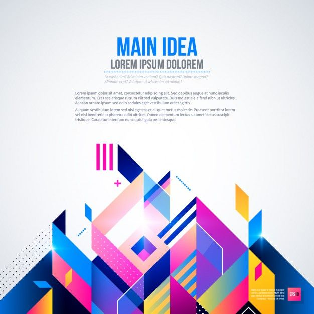 Download Background With Bright Colors And Geometric Style For