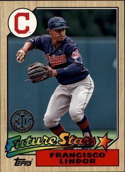 2017 Topps 1987 Topps Baseball 87 10 Francisco Lindor Front