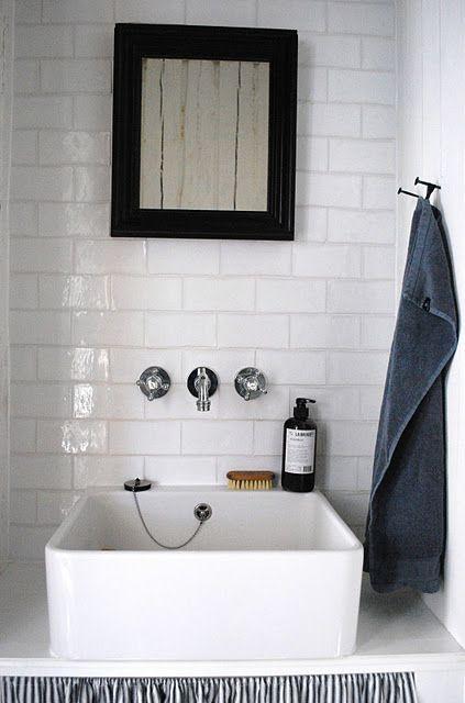 Gäste WC Bad Pinterest Gäste wc, Gast und Retro - steckdosen badezimmer waschbecken