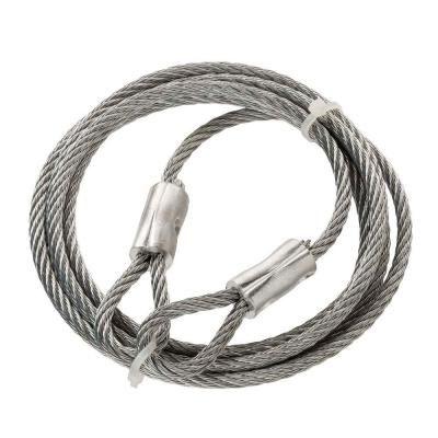 Everbilt 3 16 In X 6 Ft Galvanized Steel Security Cable Wire Rope Metallics In 2020 Security Cable Galvanized Galvanized Steel