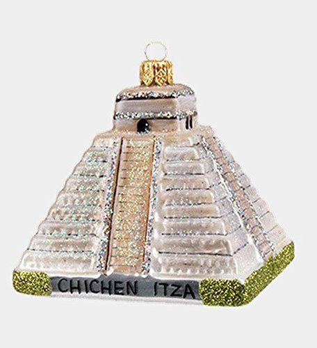 Christmas Tree Shop Binghamton Ny: Chichen Itza Temple Mexico Polish Mouth Blown Glass