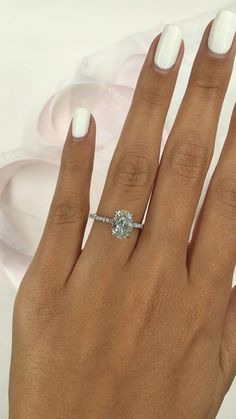Oval Diamond Engagement Ring, 1.80 Carat Oval Diam