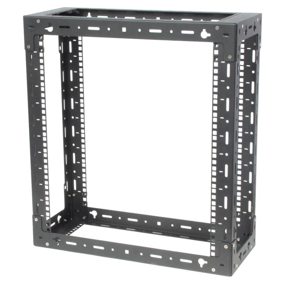 Innovation 119 1752 Wall Mount Rack Frame 12u Wide Black 300 Lb X Maximum Weight Capacity Products Wall Mount Rack Frames On Wall Wall Racks