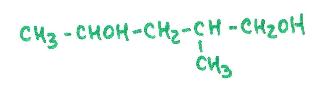 Ejercicio 18, nombrar.  Química, formulación orgánica, alcohol.