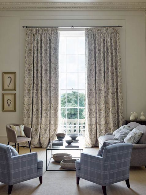 Colefax And Fowler Brockham Natural In Situ Blue And