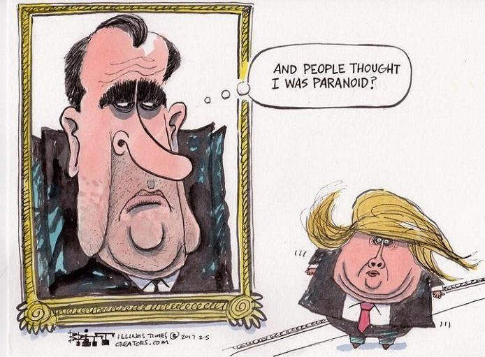 Image result for cartoons about president bragging about himself