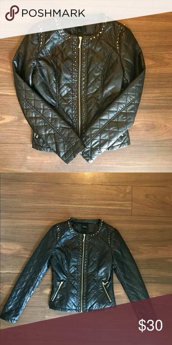 Nwot Gorgeous Faux Leather Jacket Leather Jacket Faux Leather Jackets Black Faux Leather Jacket
