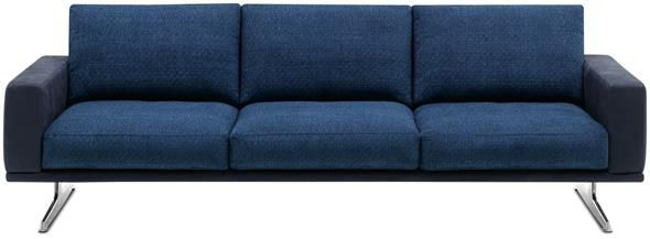 Be Bold And Choose A Sofa With Leather And Fabric Combined Like