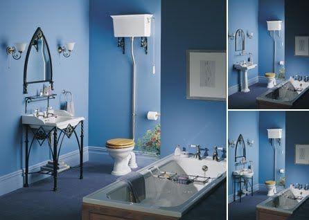 Disenos Modernos En Banos Clasicos Color Azul Fotos
