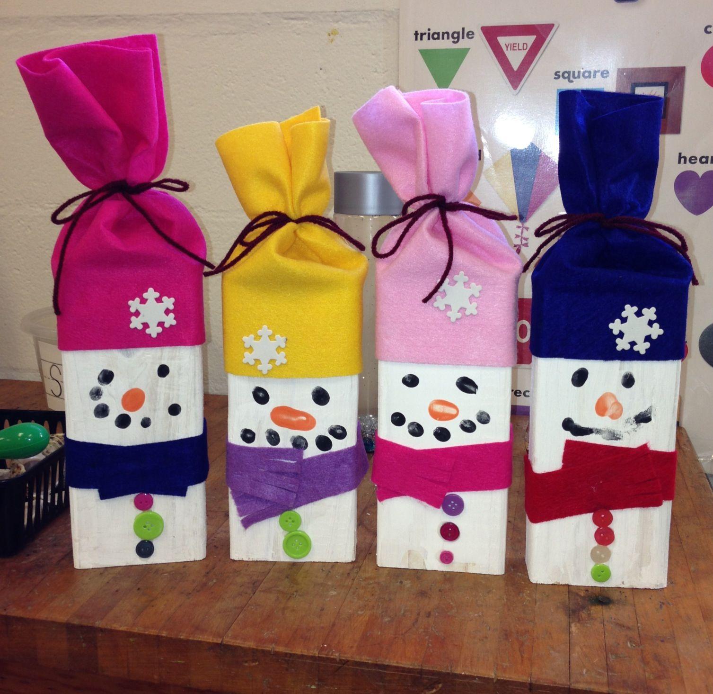 Winter Snowman Preschool Craft