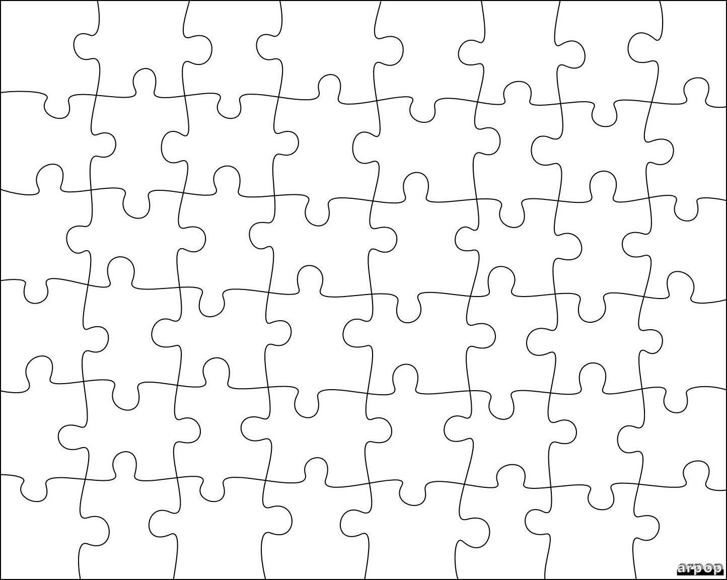 Puzzle Piece Template Puzzle Template Free Clip Art