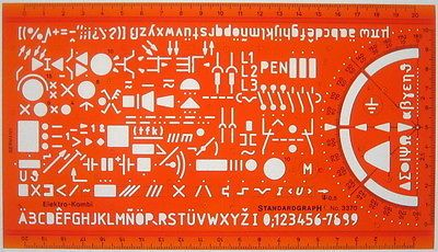 Electrical Electronic Installation Symbols Drawing Drafting Template Stencil