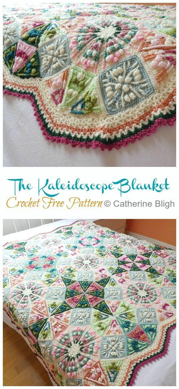 The Kaleidoscope Blanket Crochet Free Pattern - Crochet & Knitting -   - #blanke...