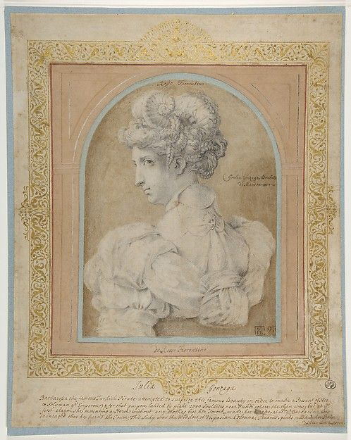 Bust Of A Woman With An Elaborate Coiffure Rosso Fiorentino