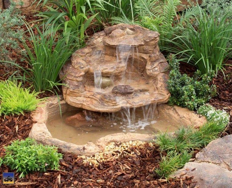 Cascadas y cataratas en el jardín - 63 ideas refrescantes - fuentes de cascada