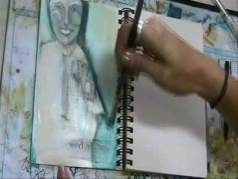 Mixed-Media Art Journaling Techniques in a Strathmore Art Journal with Pam Carriker