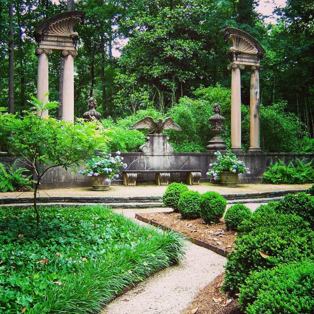 gardens 🌳 of the Swan House in Atlanta,