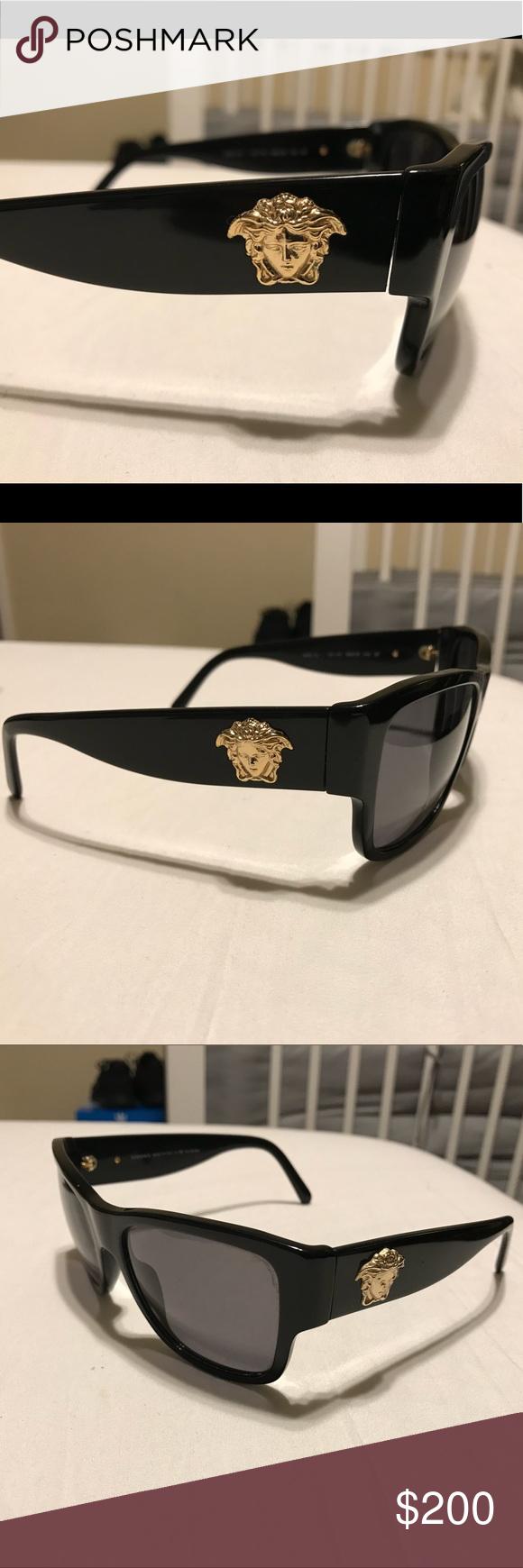 4ce8a99d88d Versace Men Sunglasses with GOLD MEDUSA Vet good condition. Original men  Versace sunglasses with gold Medusa Versace Accessories Sunglasses