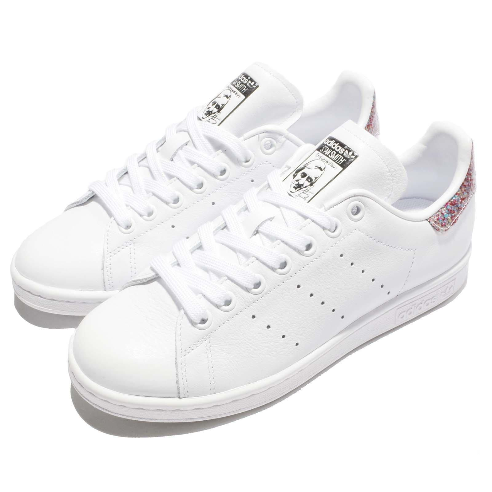 Adidas Originals Stan Smith W Glitter White Rainbow Women Shoes Sneakers  S76912 16b057a608
