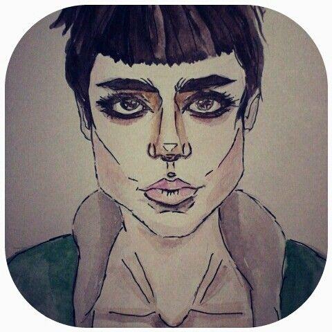 My drawing: Watercolor, gel pen , A5.