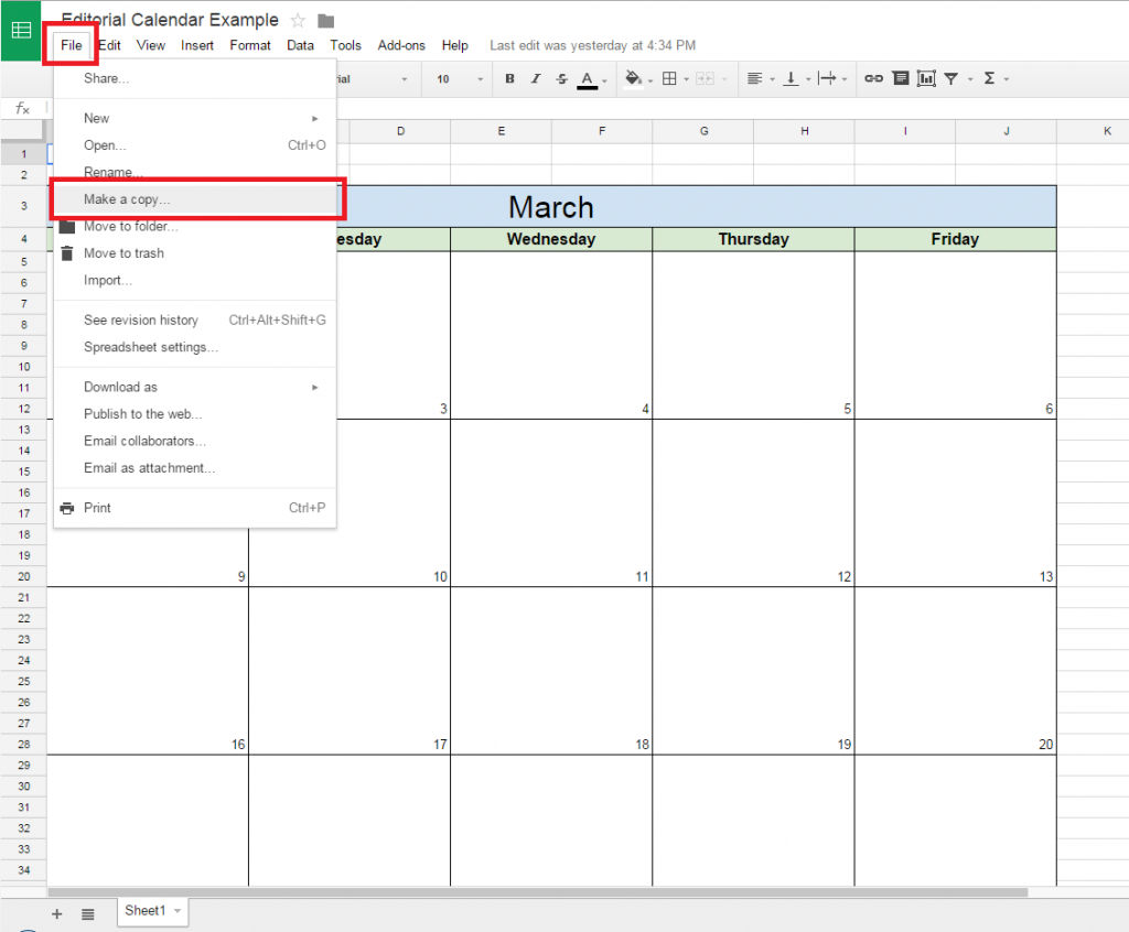 How to Make a Content Calendar in Google Docs Calendar