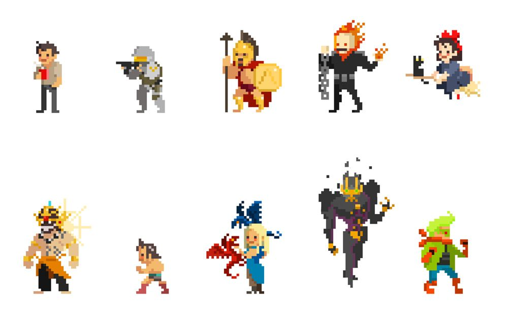 One Month Self Challenge Pixel Character By Mirugin