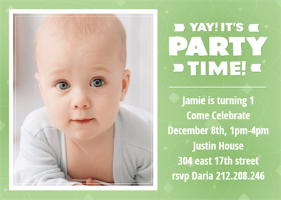 party snapshot printable birthday invitation template un an