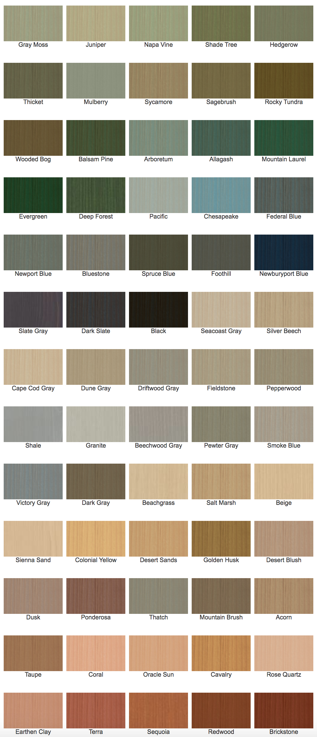Benjamin Moore Fence Stain Colors