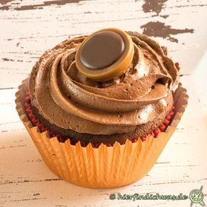 Toffifee Cupcakes Rezept mit Schokocupcaketeig #pumpkinmuffins