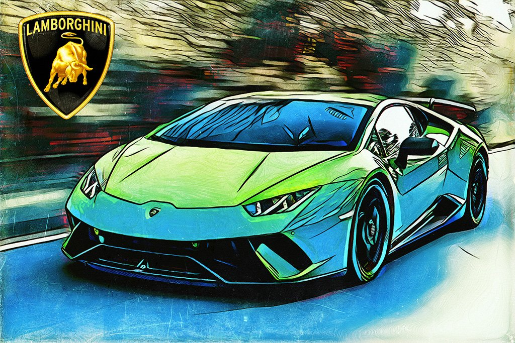 Lamborghini Huracan Sport Car Poster Super Cars Retro Cars Cool Cars