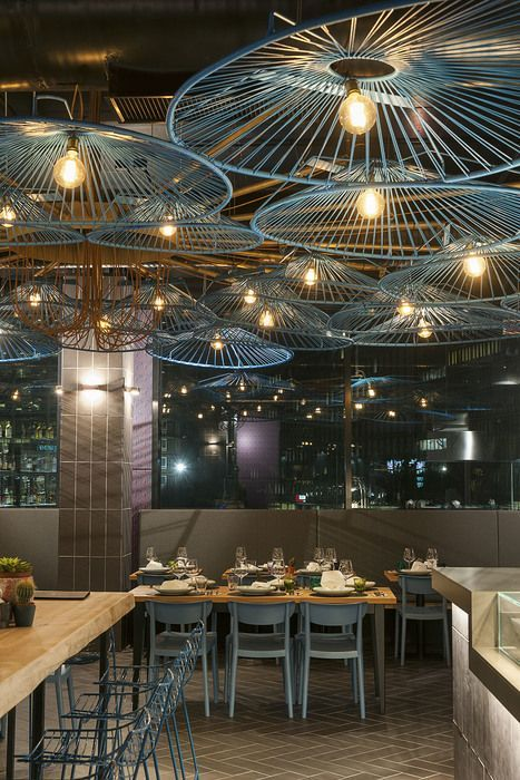 lighting for restaurant. bsame mucho milan italy european restaurant lighting for