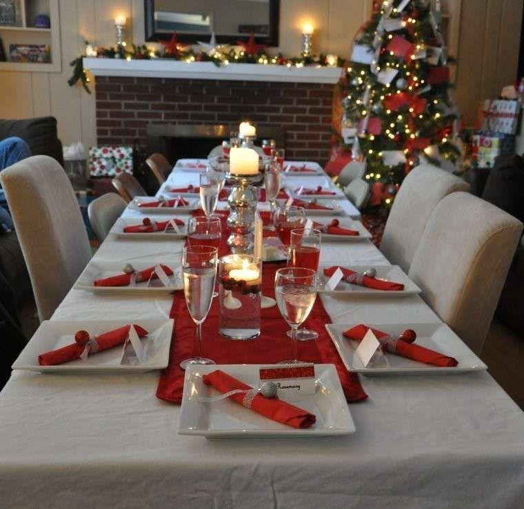 Decorazioni Tavola Di Natale In Rosso E Bianco Colori Per La Tavola Di Natale Decorazioni Per La Tavola Di Natale La Tavola Di Natale Decorazioni Da Tavola