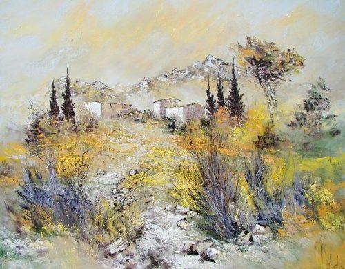 Peinture huile sur toile au couteau manuel rubalo for Peinture sur toile