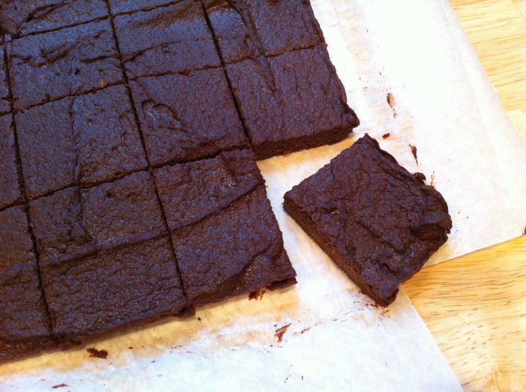 Sweet Potato Brownies - sweet potato puree, eggs, coconut oil, applesauce, vanilla extract, coconut flour, cocoa powder, baking powder, cinnamon, salt