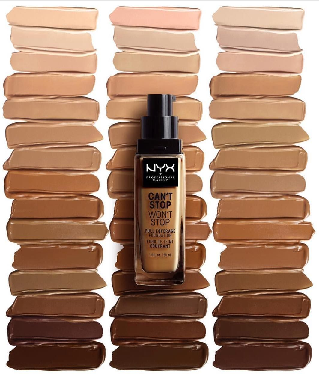 New Nyx Can T Stop Won T Stop Full Coverage Foundation In 45 Shades Collab Wi With Images Full Coverage Foundation Nyx Professional Makeup Full Coverage Foundation Makeup