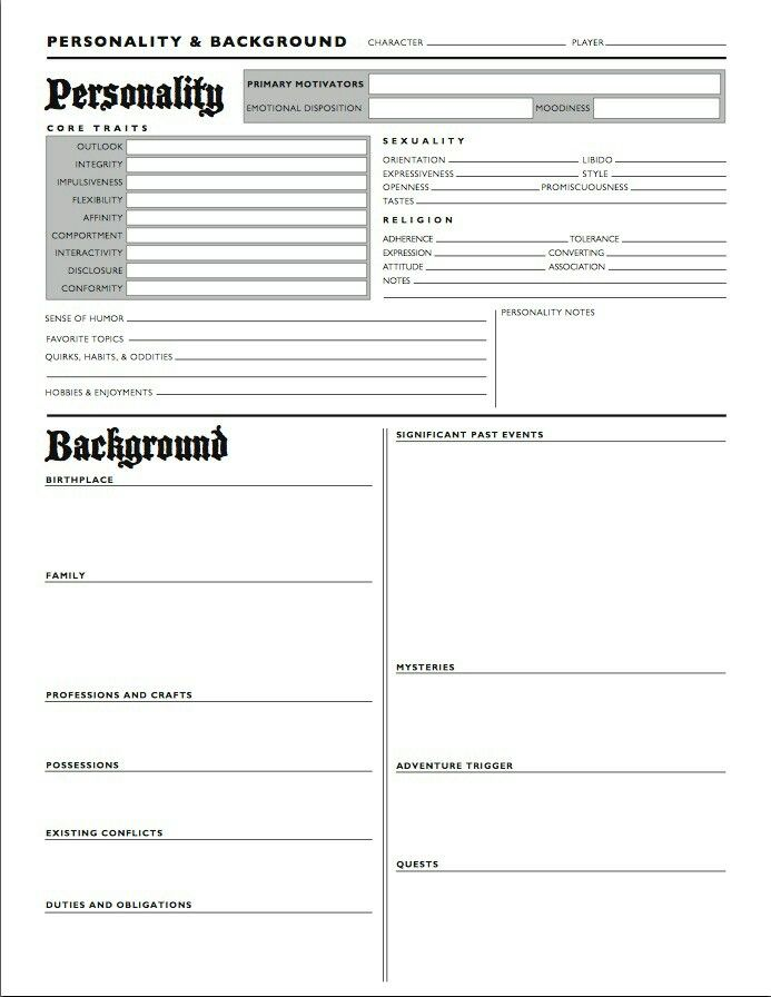 Character profile and background sheet writing aids Pinterest - profile templates
