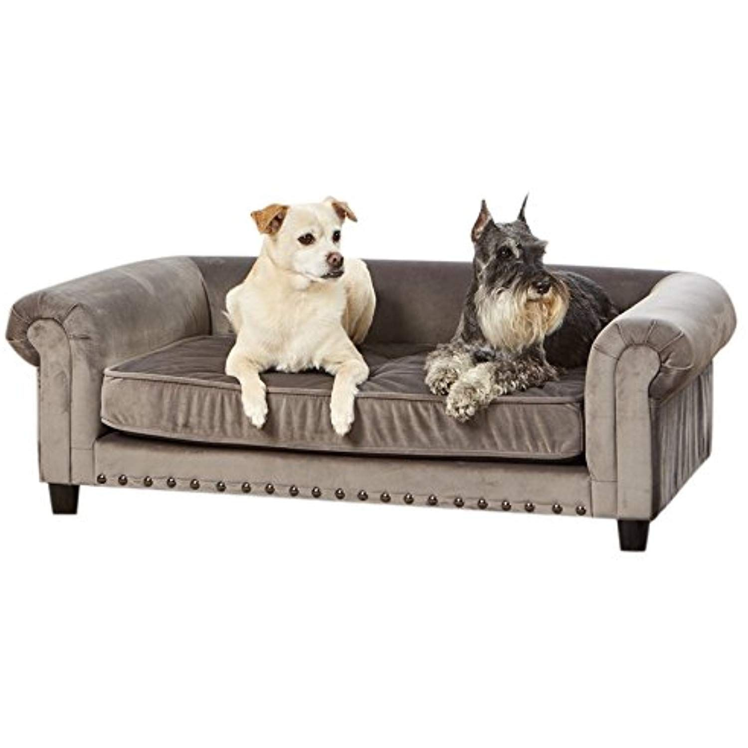 Enchanted Home Pet Co2786 16gry Manchester Velvet Tufted Pet Sofa In Grey Want To Know More Click On The Image Enchanted Home Cat Bed Furniture