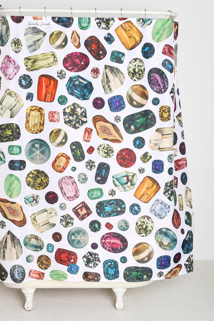 Family Jewels Diamond Shower Curtain
