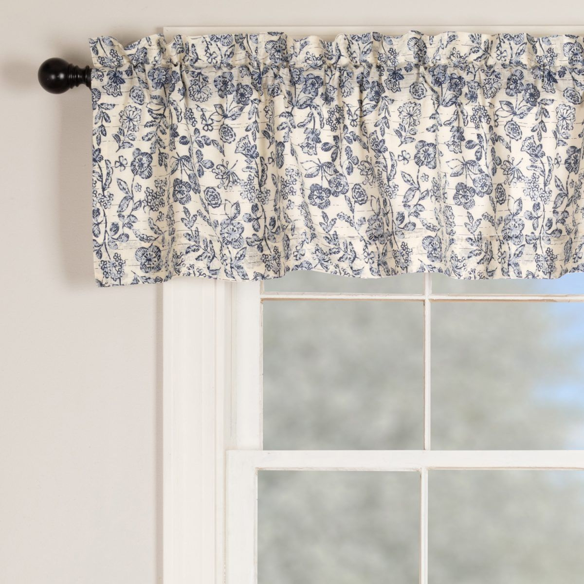 Doylestown Floral Valance Valance Farmhouse Fabric Floral Shower Curtains