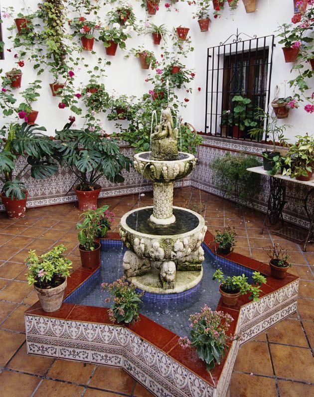 Patios cordobeses el pique vecinal se convierte en patrimonio de la humanidad jardines - Fuentes de patio ...