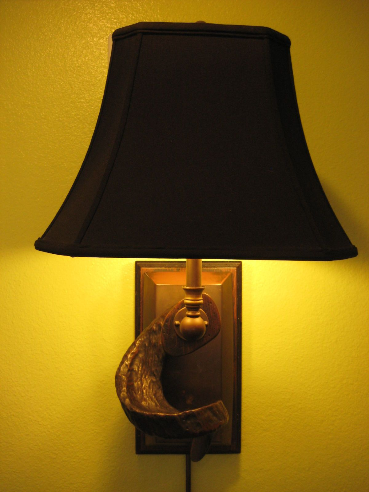 hart associates wooden horn shaped sconce wall lamp lamps