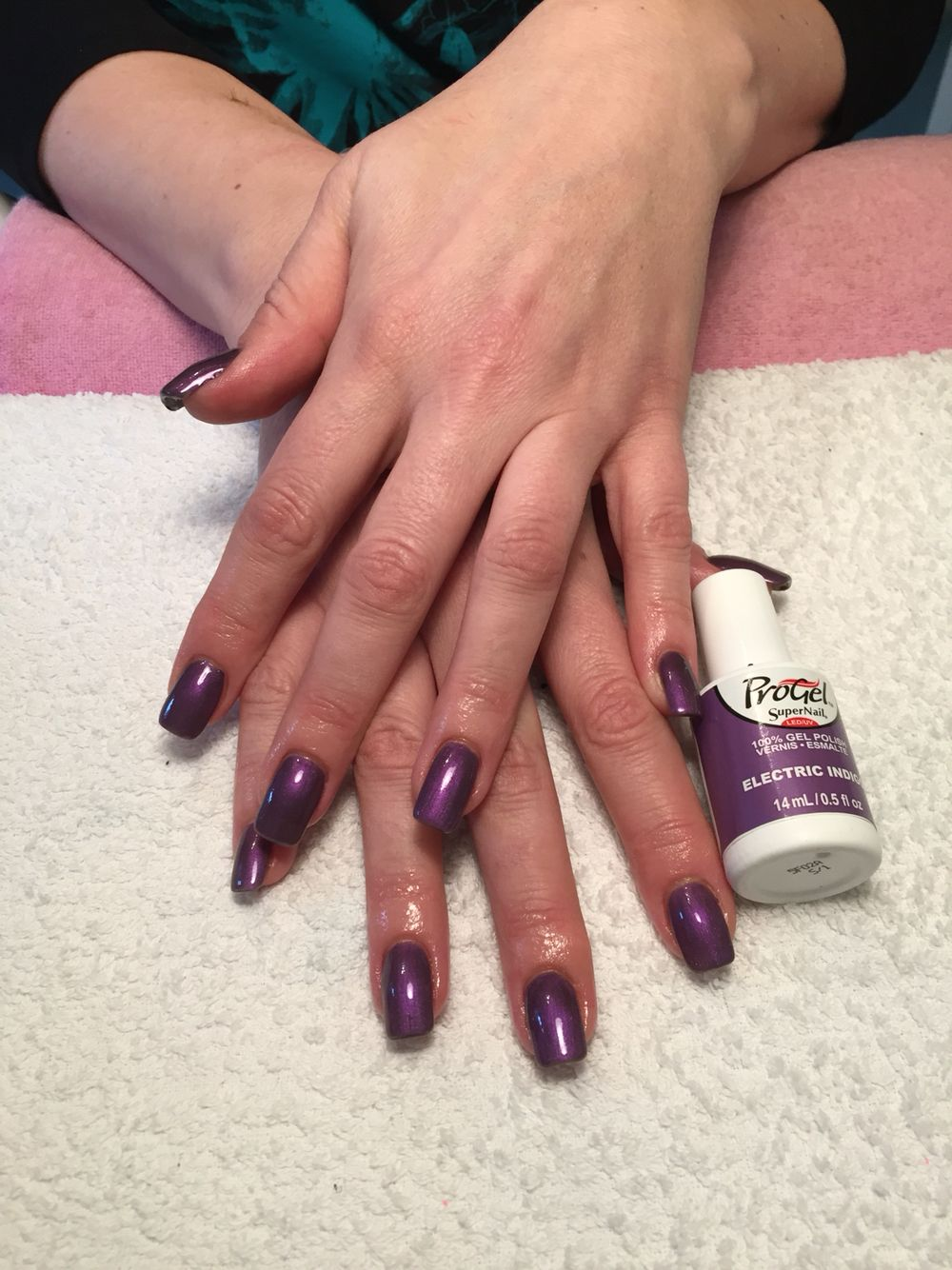 Supernail Progel Over Acrylic Nail Extensions X