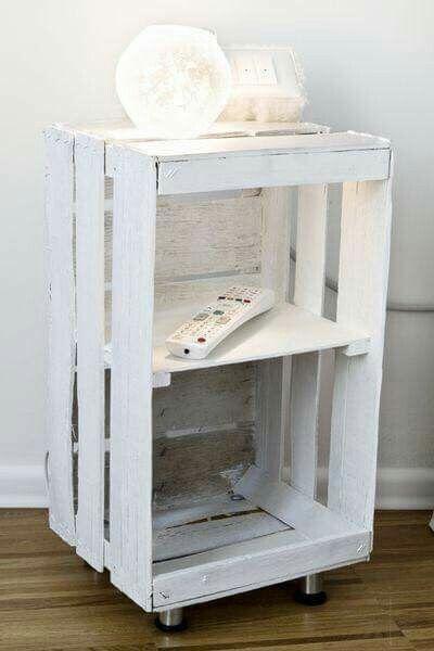 Caja pintada Idees per renovar la casa Pinterest Cajas - muebles reciclados