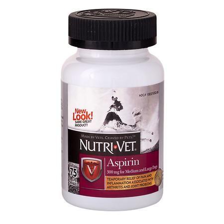 NutriVet Aspirin for Medium / Large Dogs, Chewable Liver