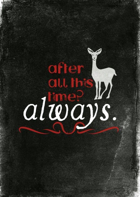 """Severo Snape cita cartel impresión /""""después de todo este tiempo. siempre/"""" Harry Potter"""